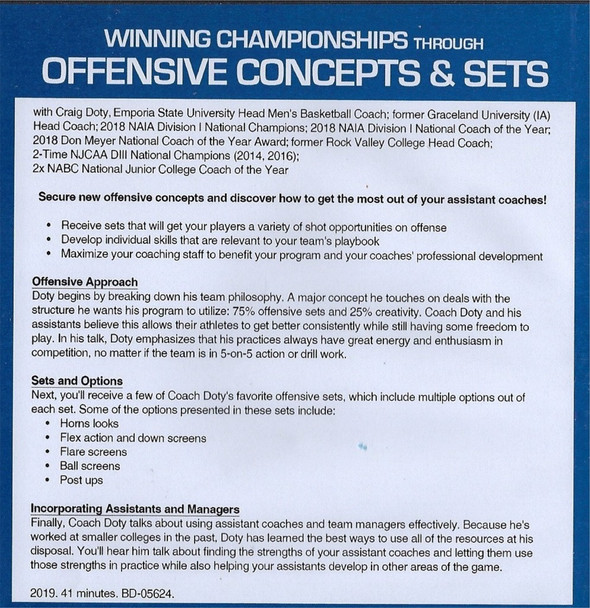 (Rental)-Winning Championships Through Offensive Concepts & Sets