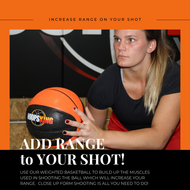 weighted basketball to increase range on shot