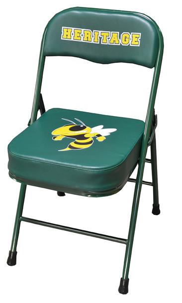 Custom sideline chair vinyl