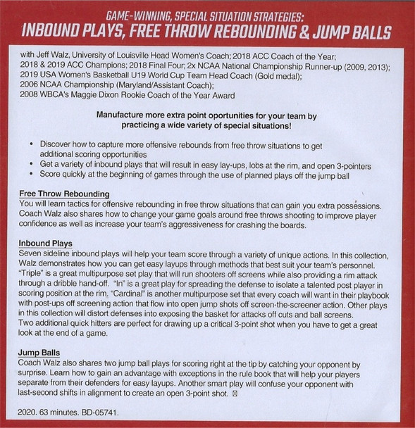 (Rental)-Inbound Plays, Free Throw Rebounding, & Jump Balls