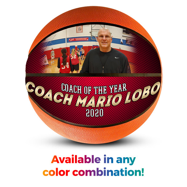 Custom Basketball Photo Ball Coach