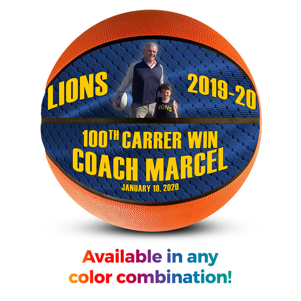 Personalized gift for basketball coach