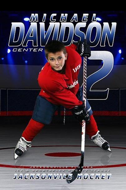 Custom sports banner for hockey senior