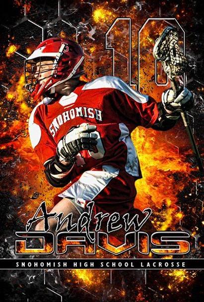 Custom sports banner for lacrosse senior