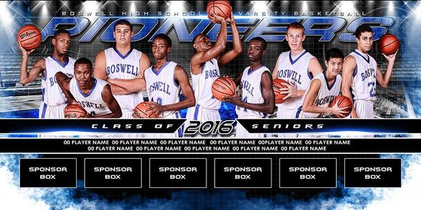 Custom 4 X 8 Basketball Team Banner