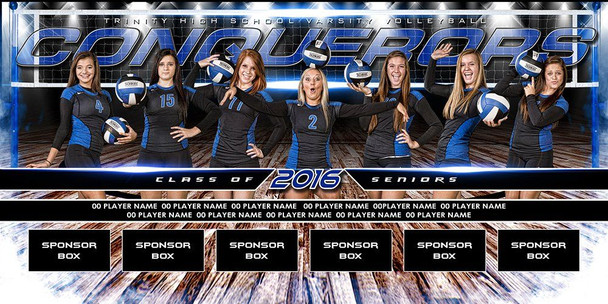 Custom Sports Team Banners Volleyball