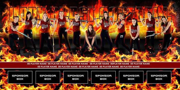 Custom Sports Team Banners Softball