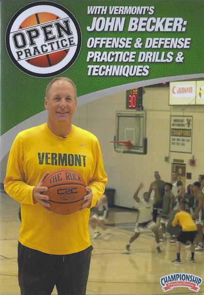 Offense & Defense Practice Drills & Technique by John Becker Instructional Basketball Coaching Video