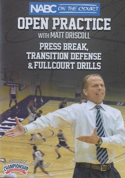 Press Break, Transition Defense, & Fullcourt Drills by Matt Driscoll Instructional Basketball Coaching Video