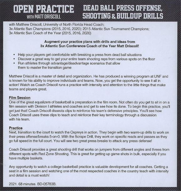 (Rental)-Dead Ball Press Offense, Shooting & Buildup Drills