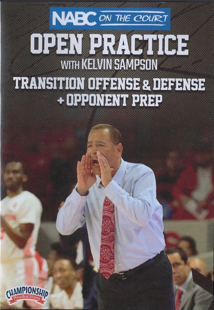 Transition Offense & Defense w/ Opponent Prep by Kelvin Sampson Instructional Basketball Coaching Video