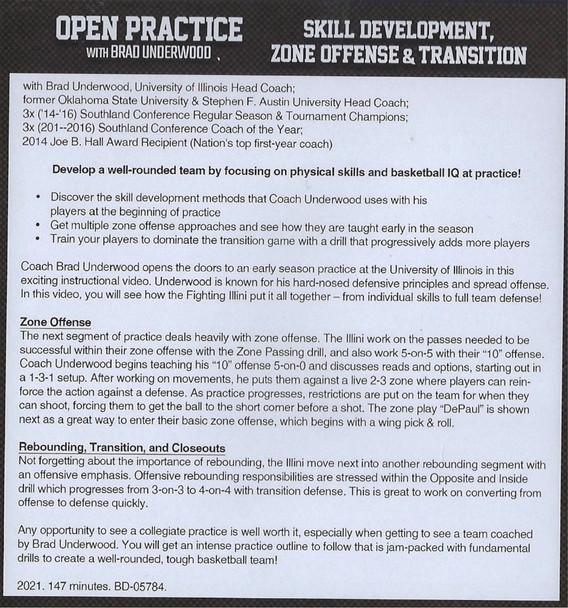 (Rental)-Skill Development, Zone Offense, & Transition