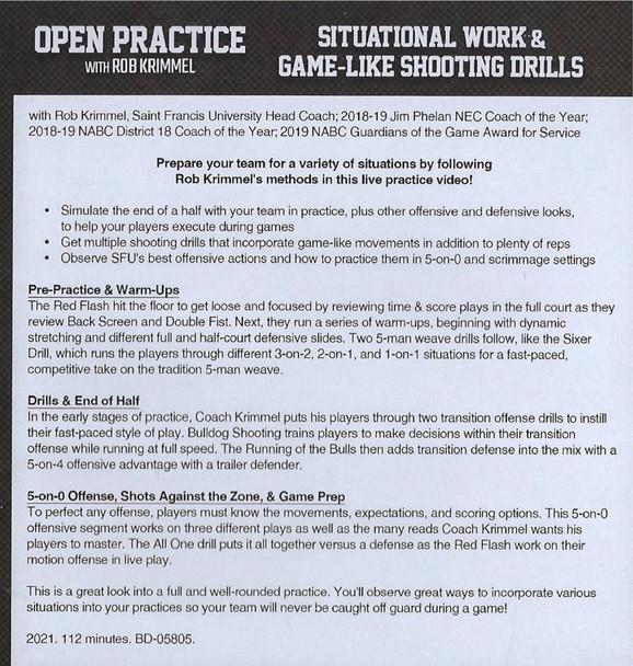 (Rental)-Situational Work & Game-Like Shooting Drills