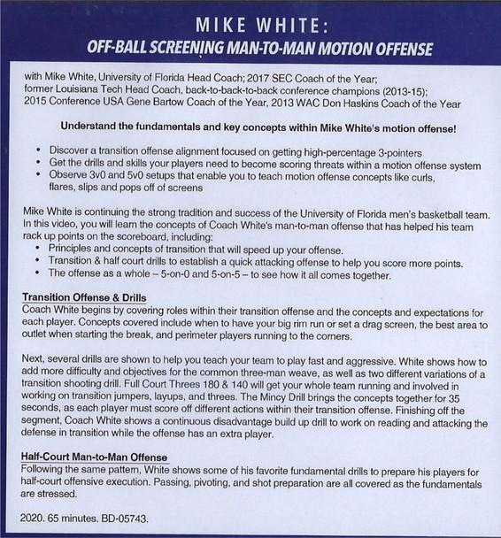 (Rental)-Off Ball Screening Man to Man Motion Offense