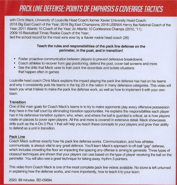(Rental)-Pack Line Defense: Points of Emphasis & Coverage Tactics