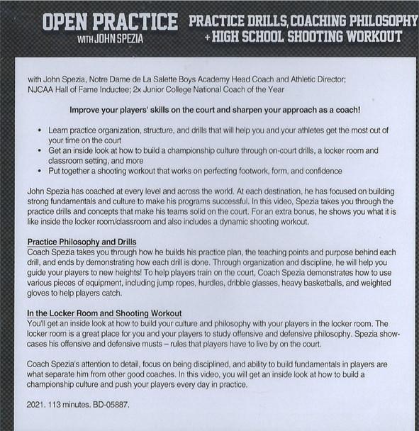 (Rental)-Basketball Practice Drills, Coaching Philosophy, & High School Shooting Workout