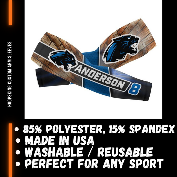Personalized arm sleeves for volleyball, basketball, baseball, softball, football