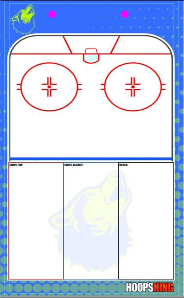 Custom Hockey whiteboard