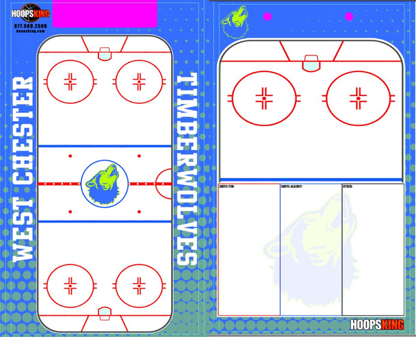 Custom Hockey Dry Erase Boards