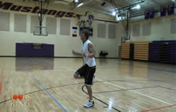 Improve your quickness and speed during the warm up for your 60 minute basketball workout with jump rope.