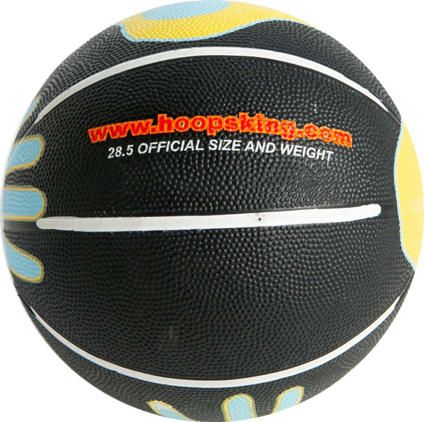 training basketball with hand painted on it