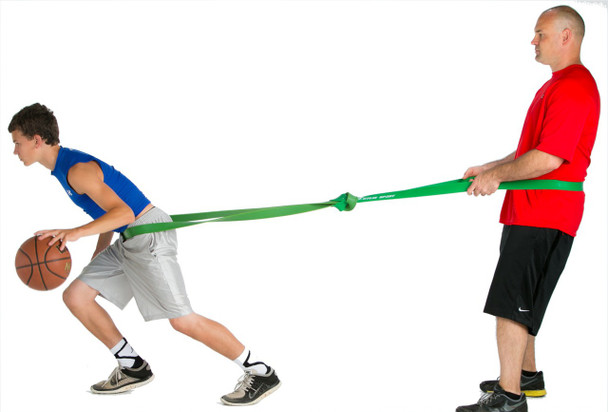 P.R.O. Basketball Resistance Band - side - child & adult
