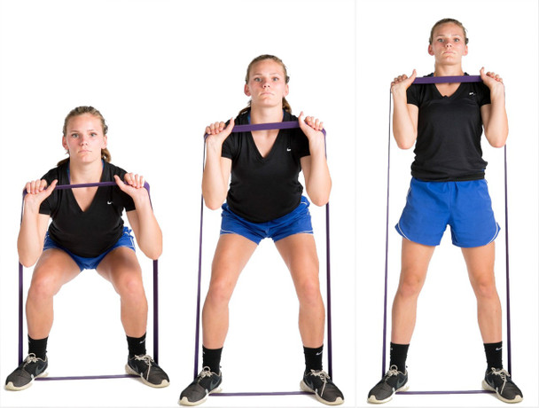 P.R.O. Basketball Resistance Band - squats