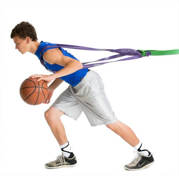 P.R.O. Basketball Resistance Band - side - dribble