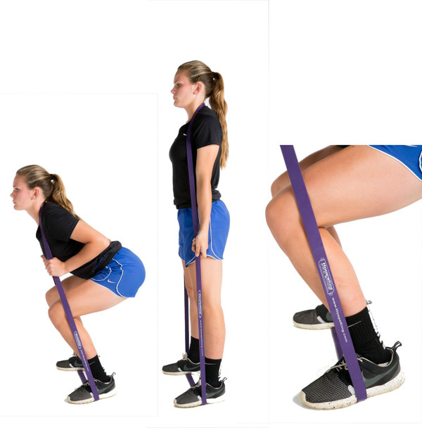 P.R.O. Basketball Resistance Band - squats - side