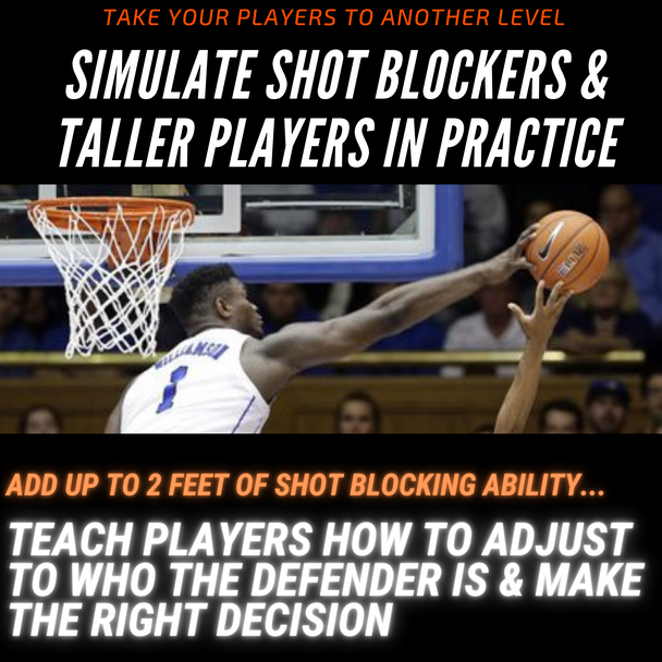 how to score against taller shot blocker in basketball