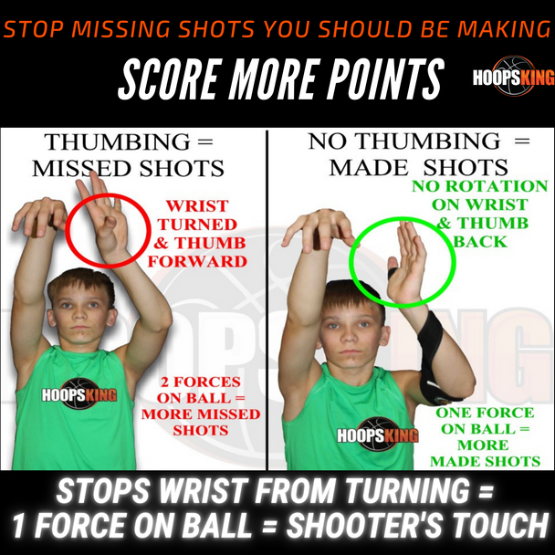How to stop two handed shooting basketball or thumbing the ball