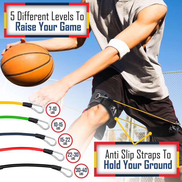 Resistance bands dribbling drills are easy to do with the LockDown bands.  Just wear them on your thighs and you can still dribble the ball anyway you like and get up and down the basketball court.