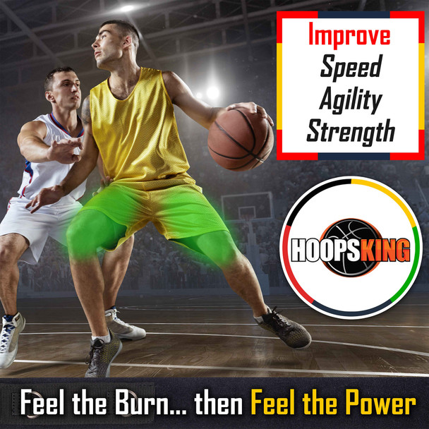 Use the LockDown Defender bands to increase lateral quickness for your basketball players.