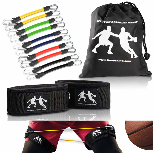 The LockDown Defender bands will help you increase your lateral quickness.  Comes with convenient carry bag and 5 pairs of resistance bands.  Also great for programs such as P90X, T25, Body Best, & Insanity.  Take your Beachbody workouts to another level.