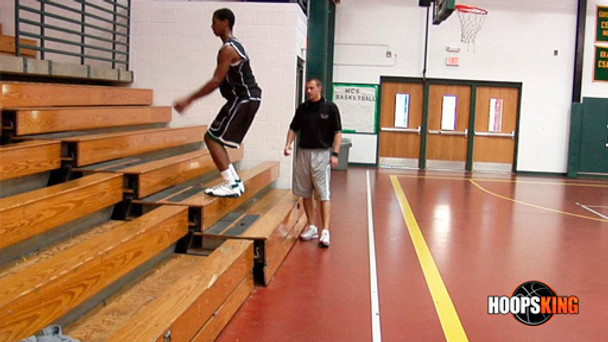 You'll test your vertical each week by trying to dunk various sizes of balls.