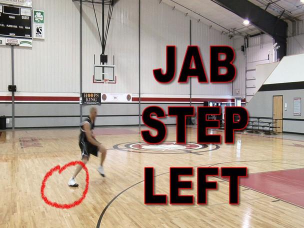 Jab step basketball