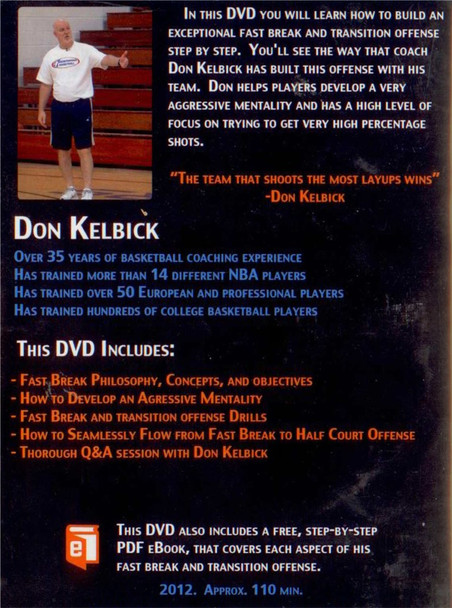 (Rental)-Don Kelbick's Transition Offense & The 4 Second Fast Break