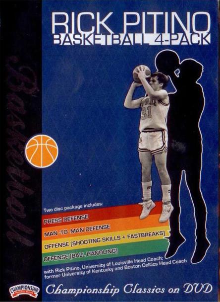 Rick Pitino Basketball 4 Pack by Rick Pitino Instructional Basketball Coaching Video