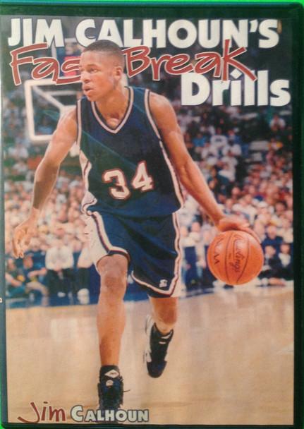 Jim Calhoun's Fast Break Drills by Jim Calhoun Instructional Basketball Coaching Video