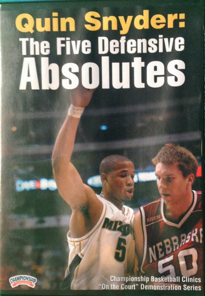 The Five Defensive Absolutes by Quin Snyder Instructional Basketball Coaching Video