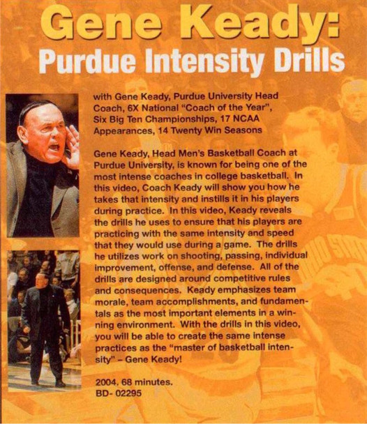 (Rental)-Gene Keady: Purdue Intensity Drills