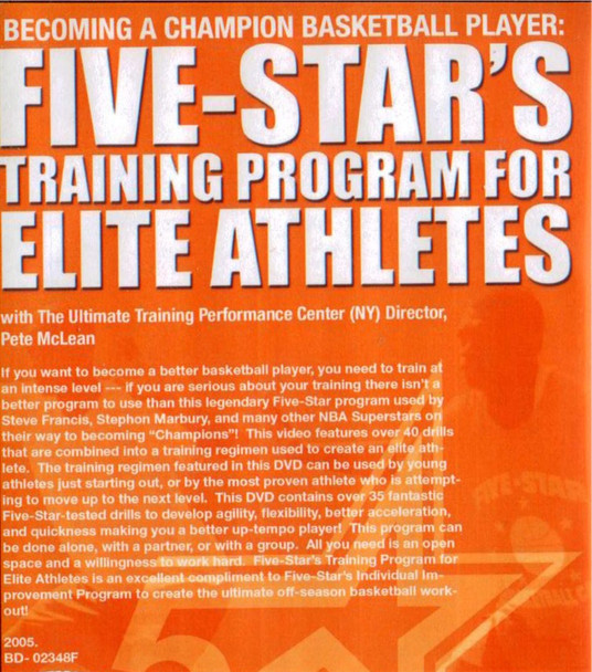 (Rental)-Five-star's Training Program For Elite Athletes