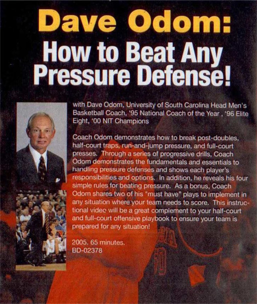 (Rental)-Dave Odom: How To Beat Any Pressure Defense