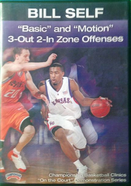 """basic"" And ""motion"" 3--out 2--in Zone by Bill Self Instructional Basketball Coaching Video"