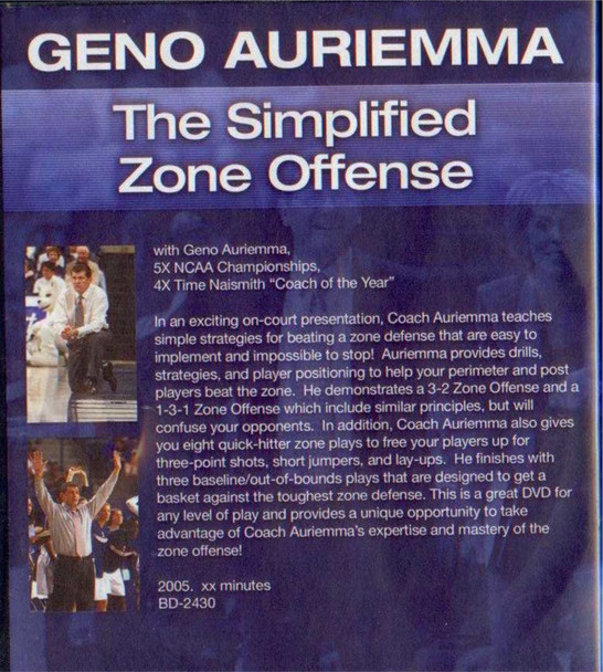 (Rental)-Geno Auriemma: The Simplified Zone
