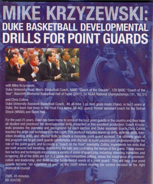 (Rental)-Coach K: Point Guards
