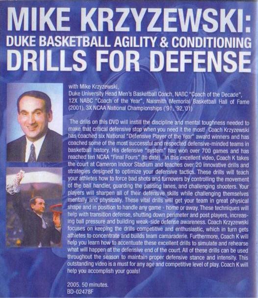 (Rental)-Coach K: Agility For Defense