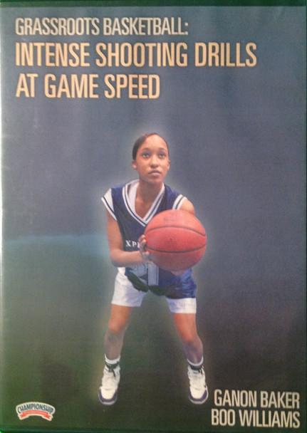 Intense Shooting Drills At Game Speed by Ganon Baker Instructional Basketball Coaching Video