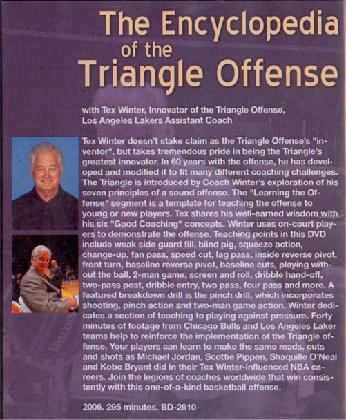 (Rental)-The Encyclopedia Of The Triangle Offense By Tex Winter