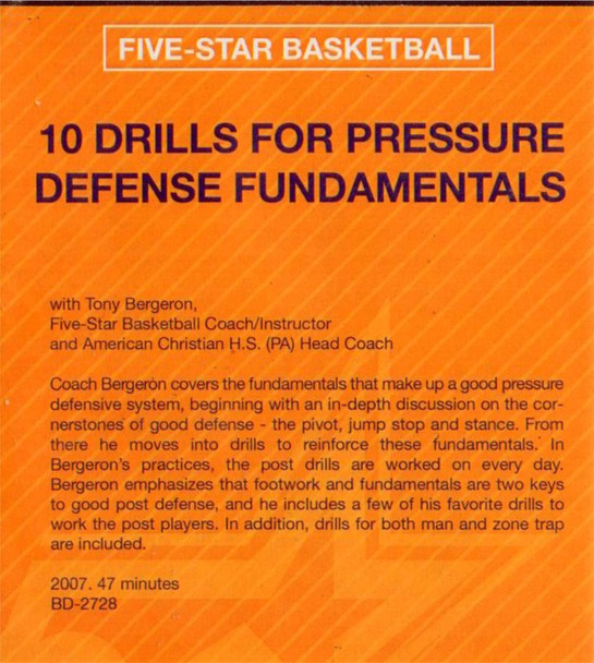 (Rental)-10 Drills For Pressure Defense